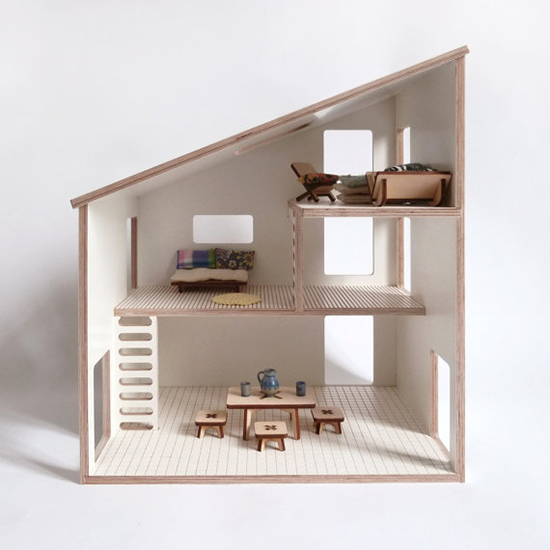 Modern Wood Dollhouse - Milkywood Handmade Dollhouse - Parisian Dollhouse for Kids | Small for Big