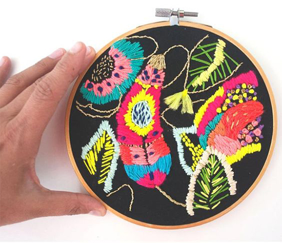 Artist Katy Biele - Modern Embroidery - Textile Wall Art | Small for Big