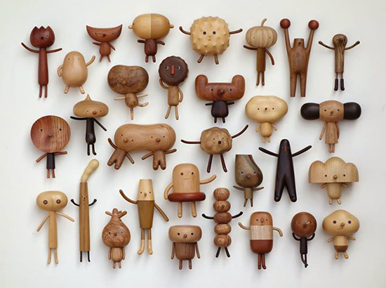 Woodies Creatures - Carved Wooden Animals - Modern Wood Toys Yan Ruilin | Small for Big
