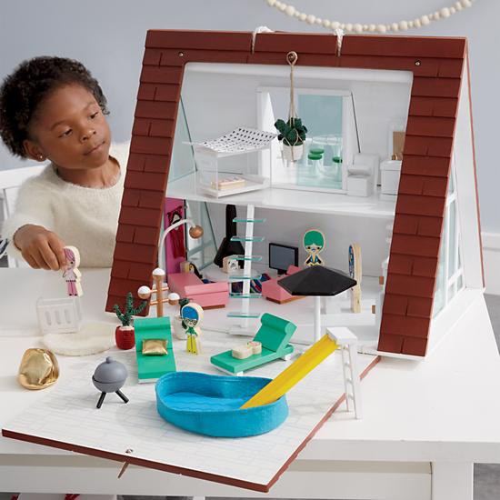 Land of Nod Dollhouse - Modern A-Frame Dollhouse - Modern Dollhouse for Kids | Small for Big
