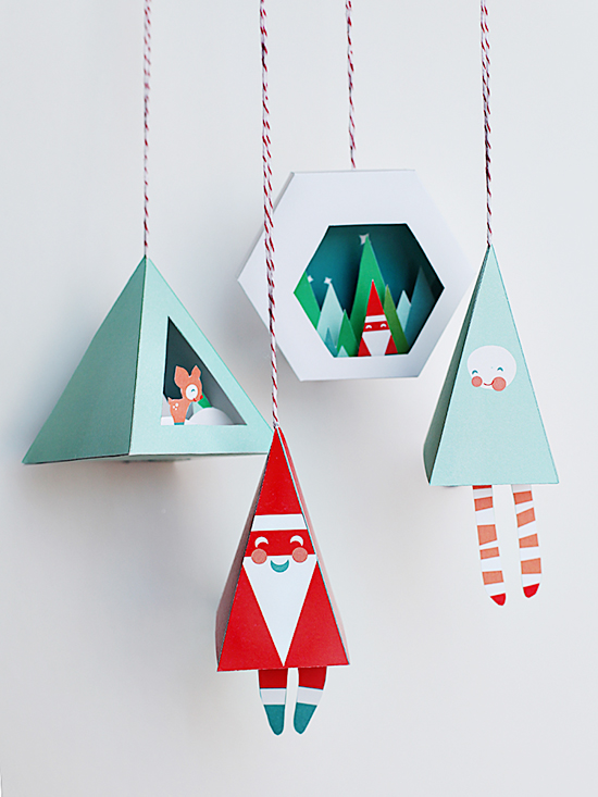printable diy holiday ornaments and christmas crafts
