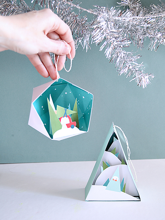 DIY Ornaments - Printable Christmas Craft - Holiday Craft Projects for Kids | Small for Big