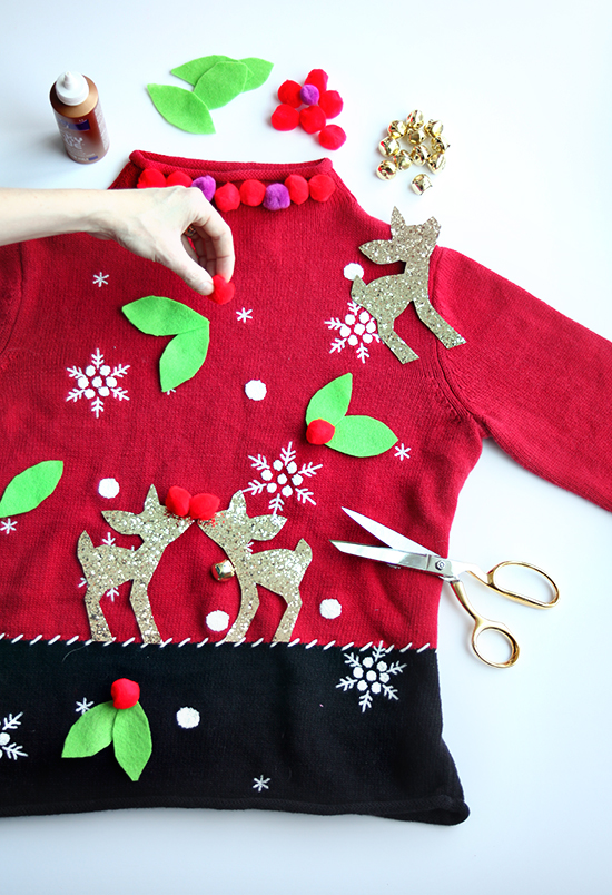 Make Ugly Christmas Sweaters - DIY Christmas Crafts - Mother-Daughter Christmas Outfits | Small for Big