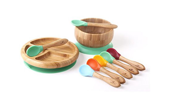 toddler feeding set - bamboo suction cup bowls for kids