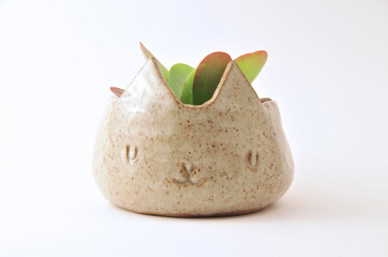 animal planter handmade ceramic plant pots