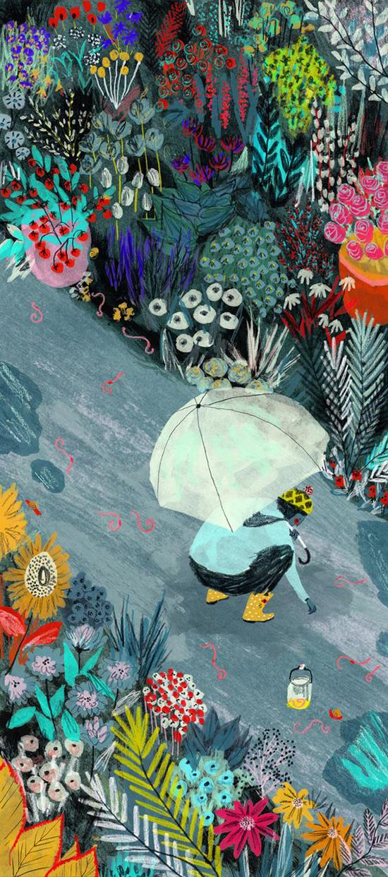 Mouni Feddag Illustration - Spring Plants Art - Drawings of Plants | Small for Big
