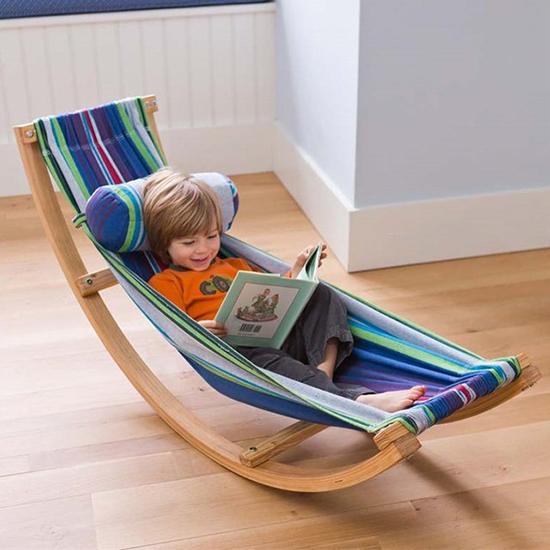 Kids Hammock - Kids Rocking Chair - Children's Lounge Furniture Decor | Small for Big