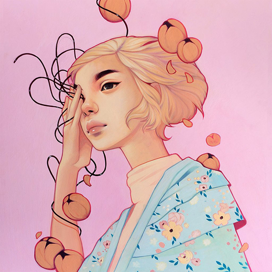 Kelsey Beckett Illustration - Spring Art - Flower Girl Painting | Small for Big